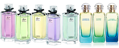 Gucci the Garden perfumes vs Hermes Jardin perfumes