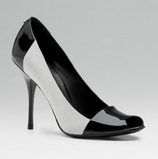 Black And White High Heel