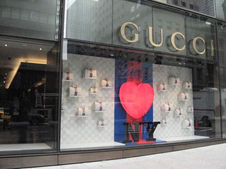 Gucci Heart NY Shop Window