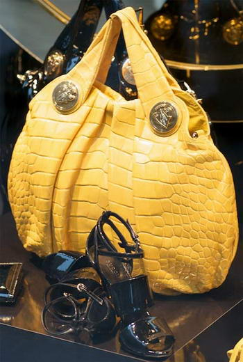 $37,500 Gucci Yellow Crocodile Hysteria Bag