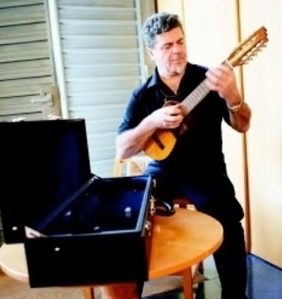 Gustavo Santaolalla Louis Vuitton trunks