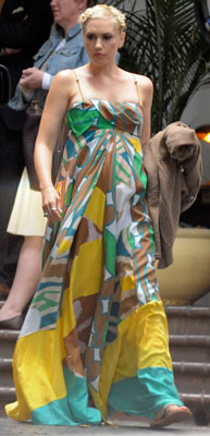 Gwen Stefani Pregnant Wearing a Tent Dress