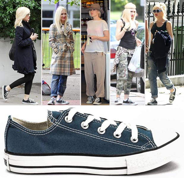 Casual Star Style: Gwen Stefani Dr Martens Boots, Converse Sneakers