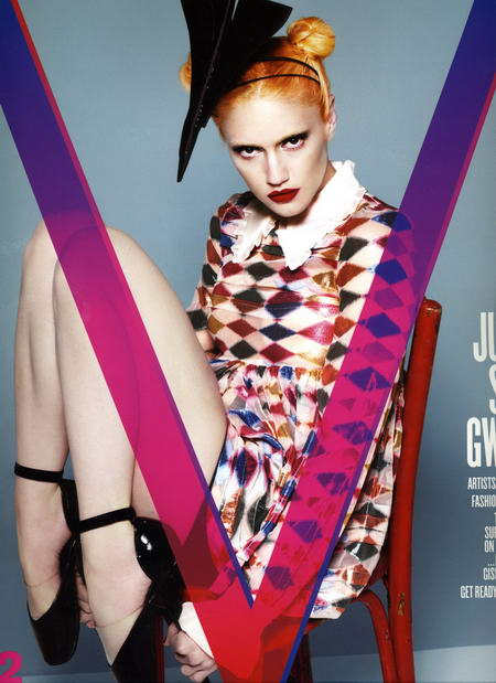 Gwen Stefani on the cover of V Magazine no 52
