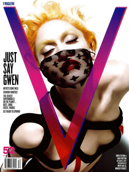 Gwen Stefani on the cover of V Magazine 52