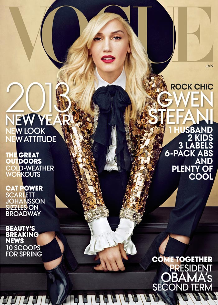 Gwen Stefani's Legs Cover Vogue US January 2013