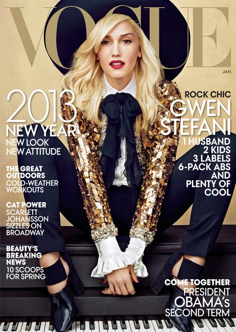 Gwen Stefani Vogue US January 2013 cover