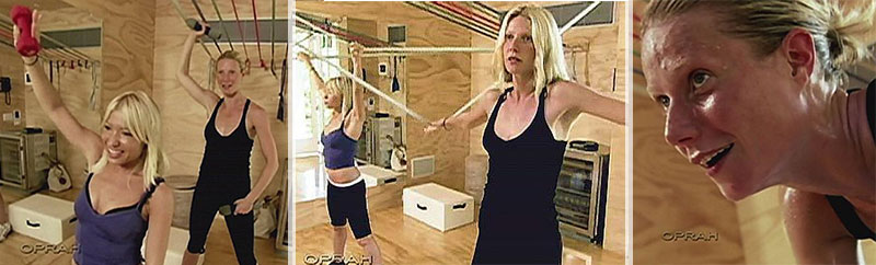 Gwyneth exhausting workout with Tracy Anderson