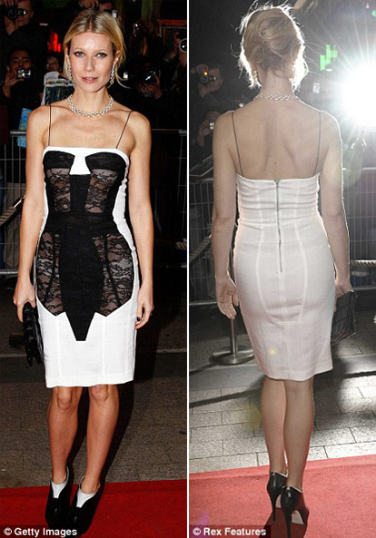 Gwyneth Paltrow Antonio Berardi dress Two Lovers premiere Paris