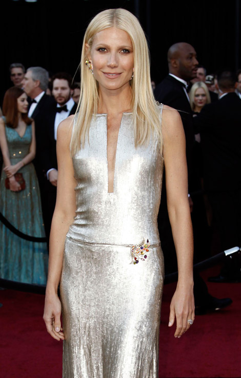 Gwyneth Paltrow Calvin Klein dress 2011 Oscars