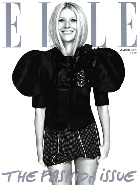Gwyneth Paltrow Does Elle UK The Fashion Issue March 2009
