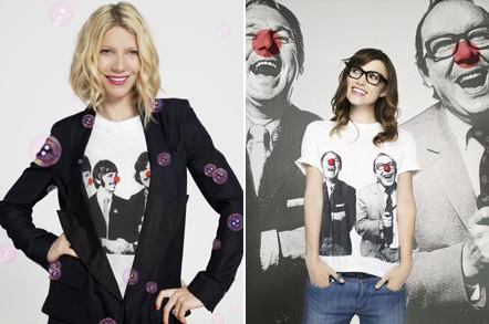 Gwyneth Paltrow Keira Knightley red nose t shirts Stella McCartney Comic Relief