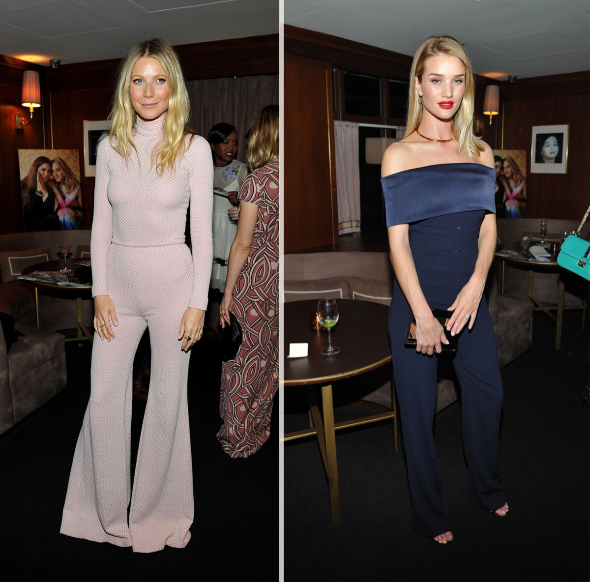 Gwyneth Paltrow Rosie Huntington Whiteley jumpsuits