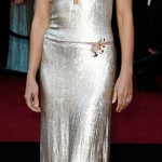 Gwyneth Paltrow silver Calvin Klein dress 2011 Oscars