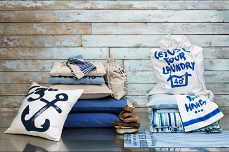 H and M home decor navy