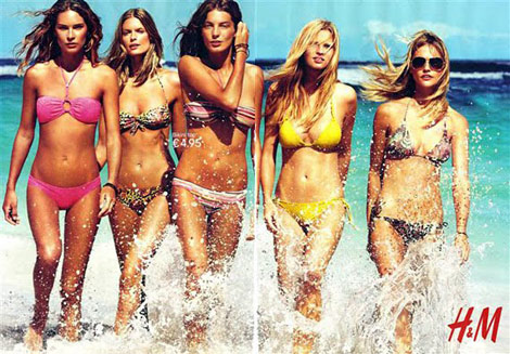 H and M swimwear 2010 ad campaign