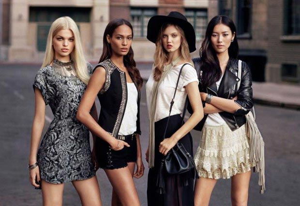 Models Off Duty Wardrobe: Joan, Daphne, Liu, Lindsey H&M Collection