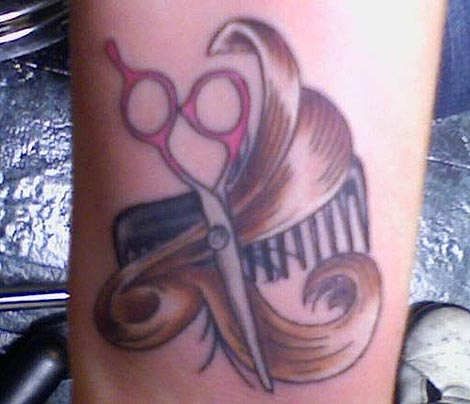 Hair stylist tattoo