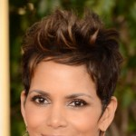 Halle Berry hair makeup jewelry 2013 Golden Globes