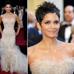 Halle Berry sequined Marchesa dress 2011 Oscars