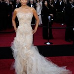 Halle Berry Marchesa sequined Marchesa dress 2011 Oscars 2