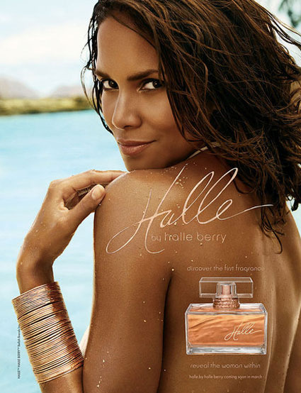 Halle by Halle Berry perfume ad