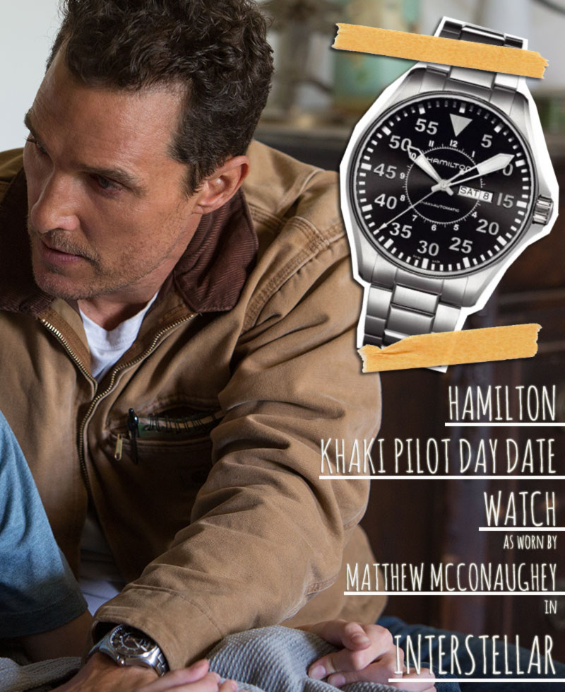 Hamilton watch Interstellar Coop Matthew McConaughey