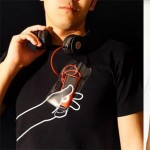 hand tshirt transparent pocket