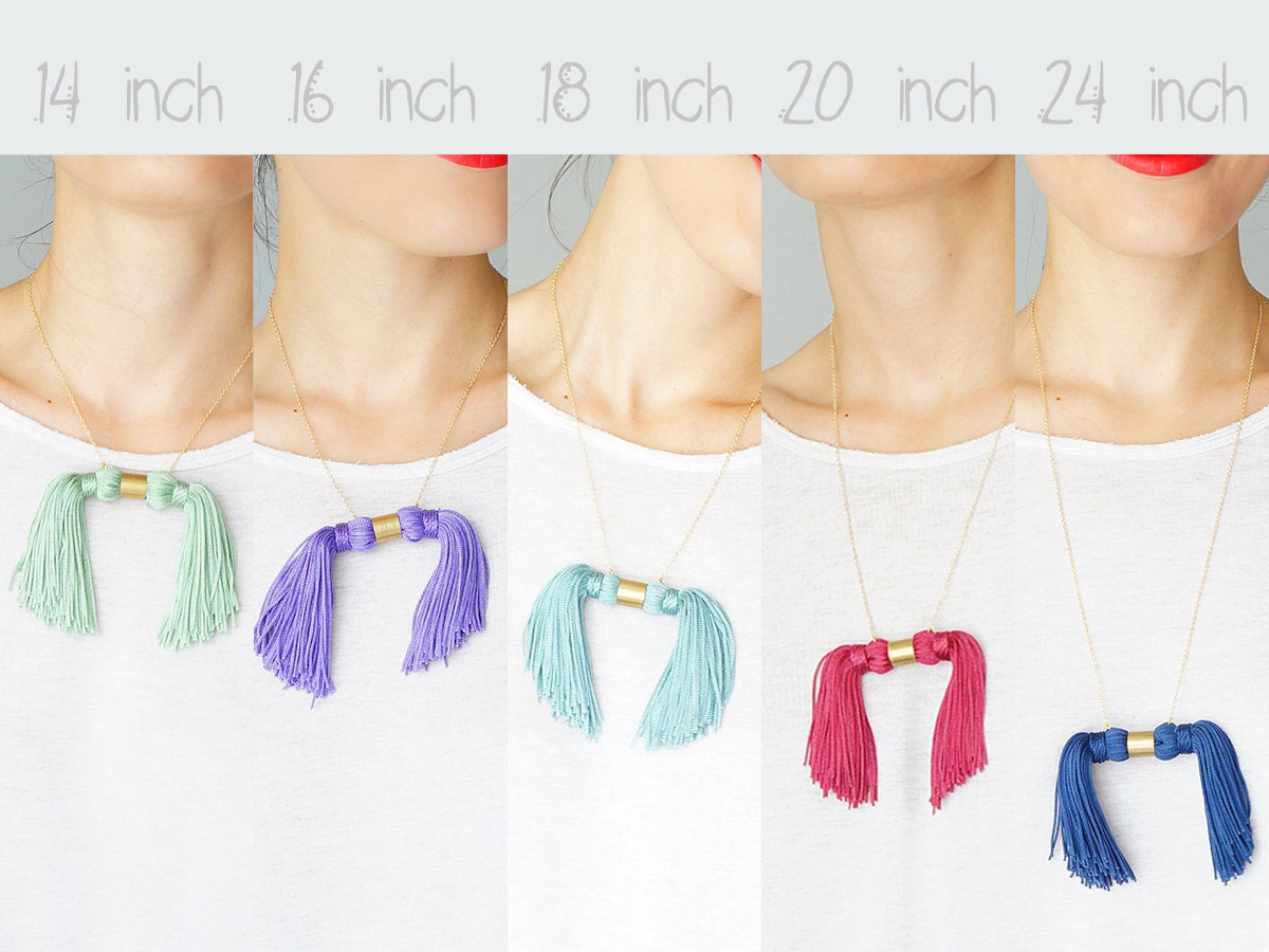 handmade tassel necklaces Epuu