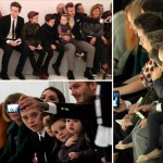 Harper and the Beckham boys with David at NYFW fashion show