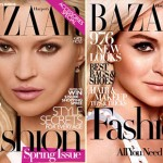 Harpers Bazaar Kate Moss vs Lindsay Lohan covers
