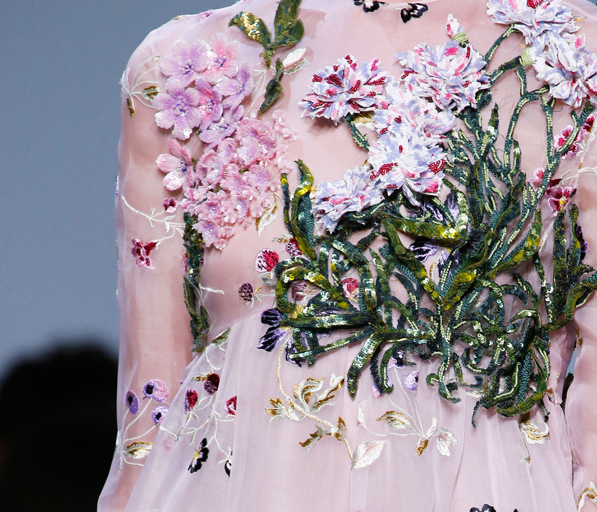 Haute Couture dress details Giambattista Valli Spring 2016