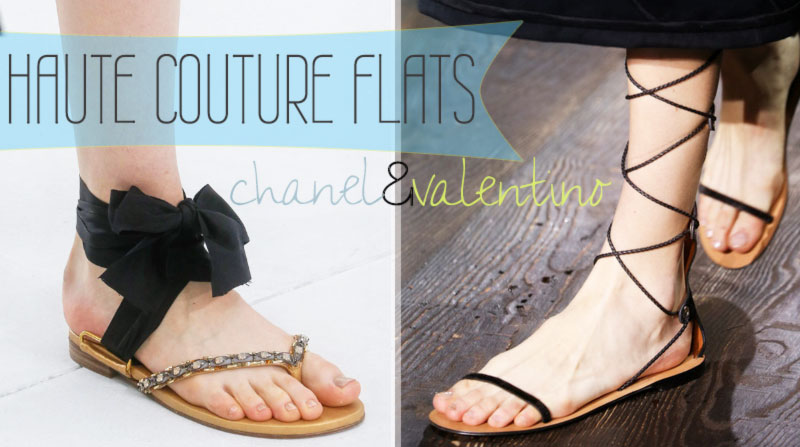 Haute Couture flat sandals Chanel Valentino