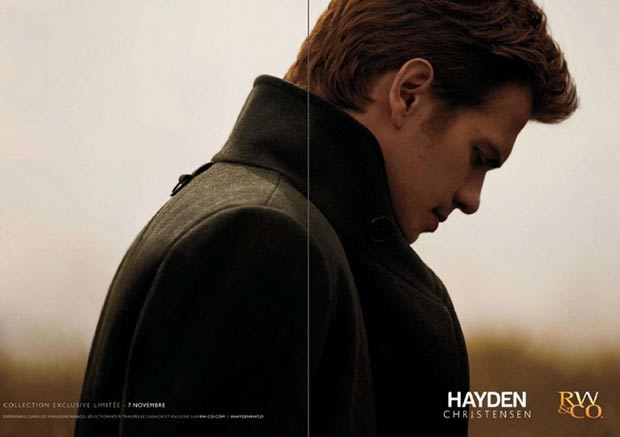 Hayden Christensen RW and Co ad campaign