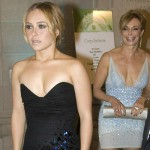 Hayden Panettiere and mother Inauguration Ball lbd