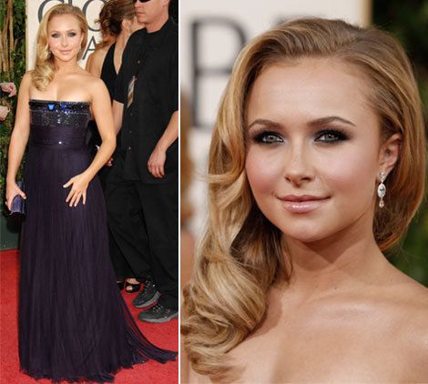Hayden Panettiere Gianfranco Ferre dress Golden Globe awards 2009