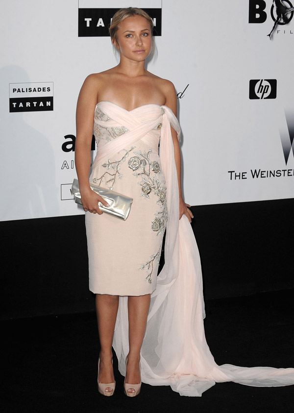 Hayden Panettiere Marchesa dress Cannes 2009