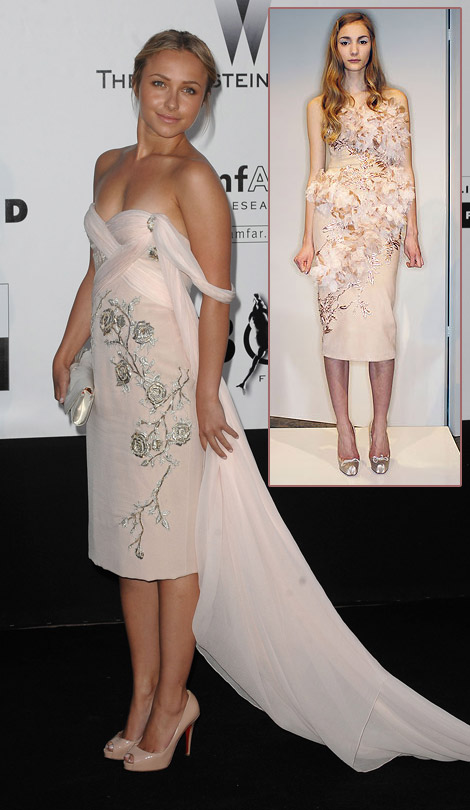Hayden Panettiere Marchesa dress Cannes amfAR