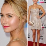 Hayden Panettiere sequined mini dress AMAs 2012