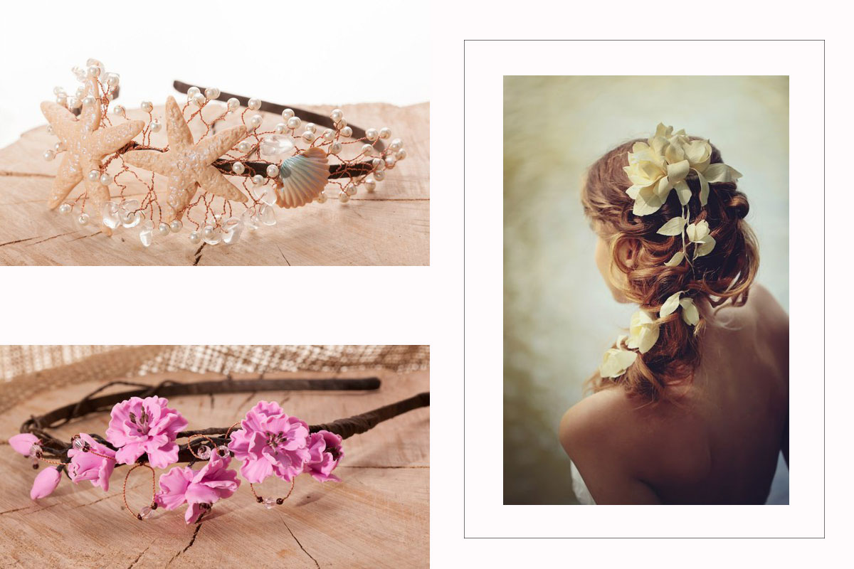 headbands flowers natural Iryna Limanska