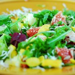healthy arugula salad mix