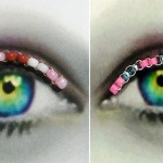 hearts and flowers eyelashes jewelry