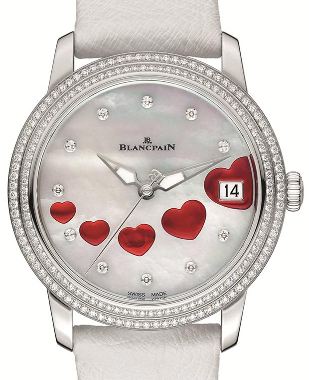 hearts watch Blancpain Saint Valentin 2013 details