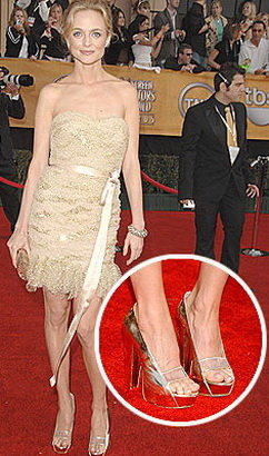 Heather Graham Versace Platforms