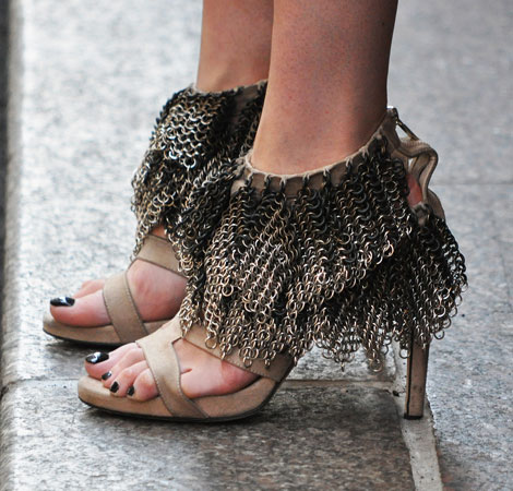 Heavy Chain Curtain Sandals