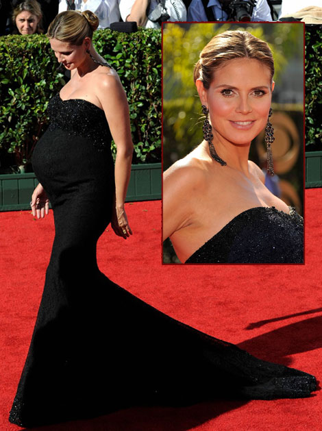 Heidi Klum 2009 Emmy Awards Marchesa Dress