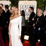 Heidi Klum Alexandre Vauthier white dress 2013 Golden Globes