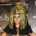 Heidi Klum bejeweled face Cleopatra costume