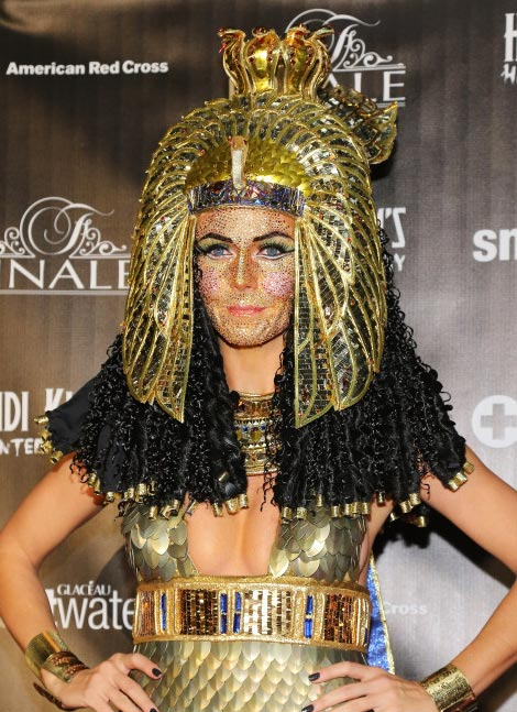 Heidi Klum Jeweled Face For Haunted Holiday Party