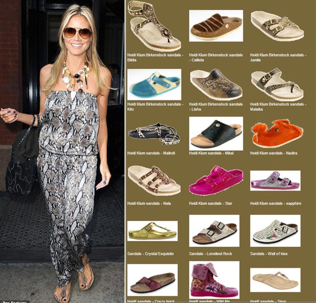 Heidi Klum Birkenstock sandals collection